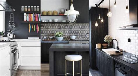 cuisine noir et blanc 20 idées décoration cuisine noir