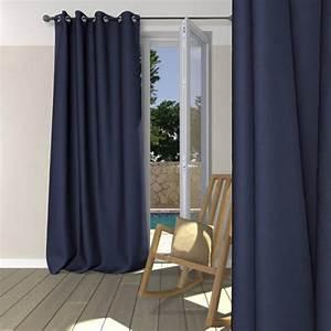 Double Rideau Bleu : rideau occultant bleu marine oeillets rideaux pas cher badaboum ~ Teatrodelosmanantiales.com Idées de Décoration