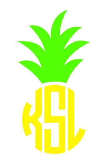 preppy monogrammed pineapple decals  wwwginnymariescom pineapple decal pineapple monogram