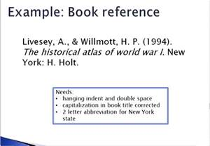 APA Citation for Book Reference Examples
