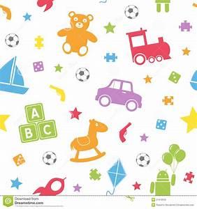 Kids Toys Seamless Pattern [1] Royalty Free Stock Image ...