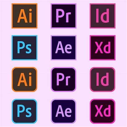 Adobe Logos Software Photoshop Vector Illustrator Icons