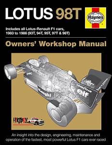 Lotus 98t Owners U0026 39  Workshop Manual