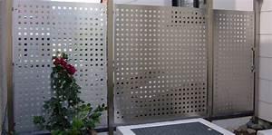 Balkon Selber Bauen Stahl : edelstahl sichtschutz metall ~ Lizthompson.info Haus und Dekorationen