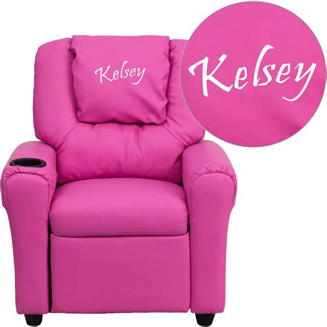 Infant Recliners by Flash Furniture Personalized Vinyl Recliner With Cup