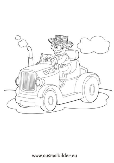 ausmalbild bauer auf dem traktor kostenlos ausdrucken