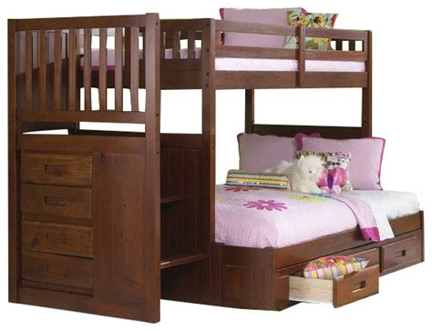 loft bed with futon custom furniture staircase bunk bed with storage 7147