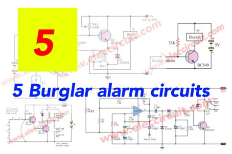 9 burglar alarm circuit ideas electronics projects circuits