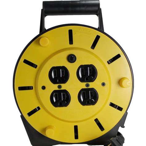 Extension Cord Storage Reel Outlets Circuit