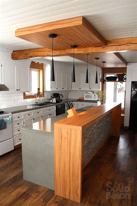 contoire de cuisine pin ilot de cuisine avec comptoir bar une atmosphère très