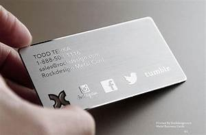 Top grade metal business card stainless steel business for Business cards metal