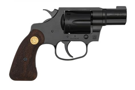 Colt Cobra 38 Special Double Action Revolver With Wood