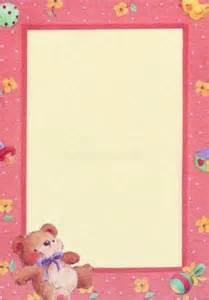 Printable Baby Border Paper
