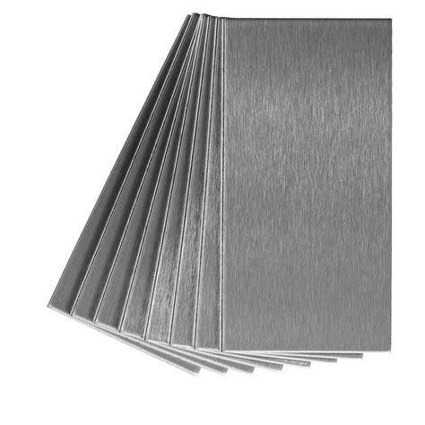 shop aspect metal 3 in x 6 in stainless metal backsplash