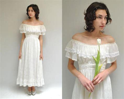 Boho Wedding Dress // Off The Shoulder Dress // 70s Gunne