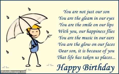 Birthday Poems For Son Page Wishesmessages
