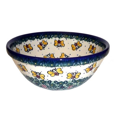 Polish Art Center   Polish Stoneware Medium Bowl   Jacek