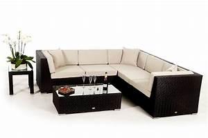 Rattan Lounge Schwarz : shangrila lounge in schwarz rattan gartenm bel set f r terrasse garten oder balkon ~ Indierocktalk.com Haus und Dekorationen