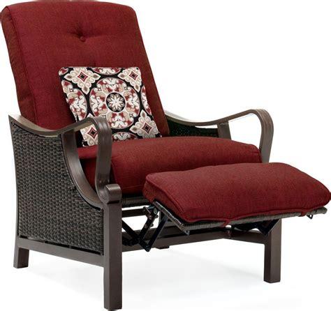 Recliner Chairs Garden by Hanover Ventura Luxury Resin Wicker Outdoor Recliner Chair