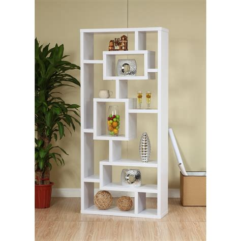 White Bookcase Cabinet by Furniture Of America Unique Wood Bookcase Display Cabinet