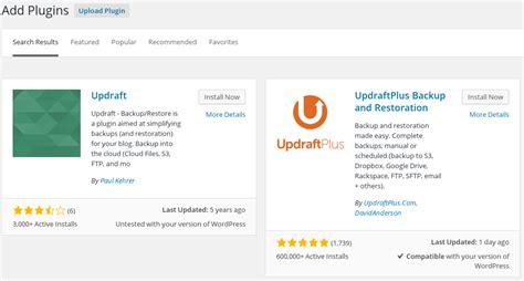 Updraft Plugin Wordpress