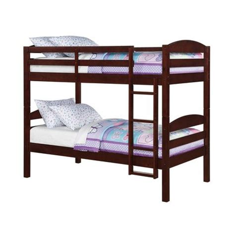 mainstays twin twin wood bunk bed walmart ca
