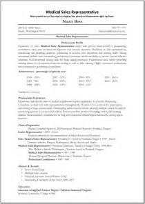 college student resume exles resume medical sales