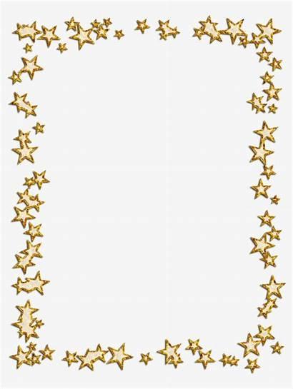Frame Star Borders Banner Gold Frames Clipart