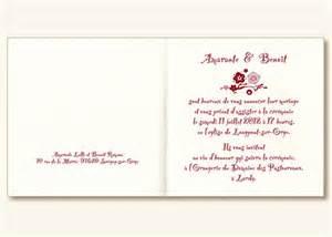 modele faire part mariage exemple lettre invitation mariage