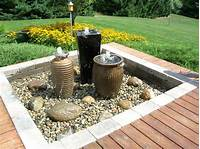 backyard water fountains 'Getaway' gardens: Water, fire features make for backyard bliss | christamb