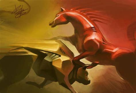 ferrari horse vs mustang horse bull vs horse lamborghini vs ferrari digital sport