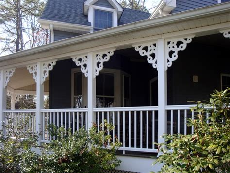 Pvc Porch Brackets by Porch Brackets Traditional Exterior Miami By