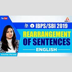 Ibpssbi 2019  Rearrangement Of Sentences  English  Anchal Ma'am