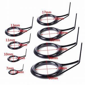 8pcs Replace Fishing Rod Eye Repair Ring Guide Single Leg