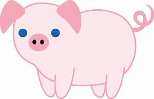 Cute Pink Piglet - Free Clip Art