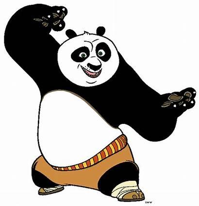 Panda Fu Kung Clipart Clip Cartoon Po