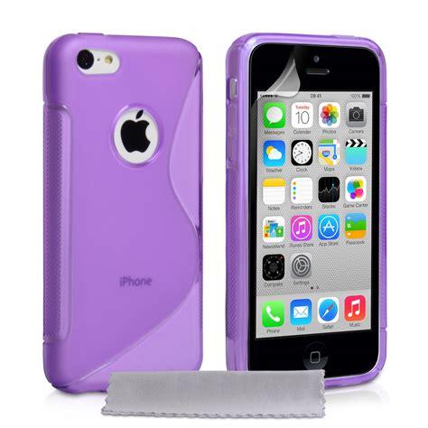 iphone 5c purple caseflex iphone 5c silicone gel s line purple