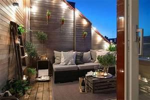 licht auf dem balkon und der terrasse indirekte led With französischer balkon mit led beleuchtung im garten
