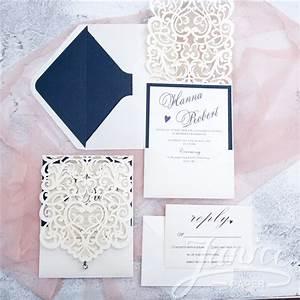 exquisite laser cut white pocket wholesale wedding With exquisite laser cut white pocket wedding invitations