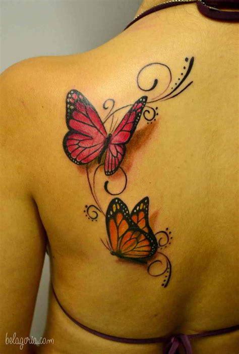 110 Tatuajes de flores mariposas y enredaderas que son