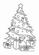 Christmas Tree Coloring Pages Print sketch template