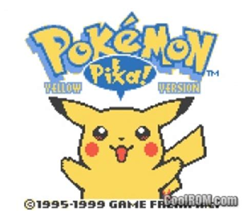 Pokemon Yellow Rom Pokemon Yellow Rom Download For Gameboy Color Gbc
