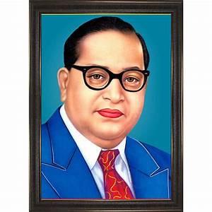 Dr Babasaheb Ambedkar Photo Frame - Brown - I