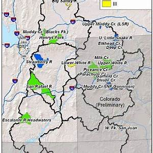 B. The Big Sandy River and Little Sandy Creek watersheds ...