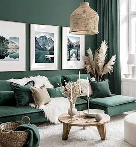 Stunning, Gallery, Wall, Art, Green, Living, Room, Nature, Posters