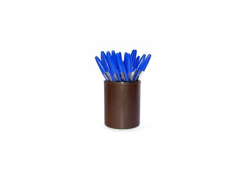 pot a crayons en cuir noir maroquinerie