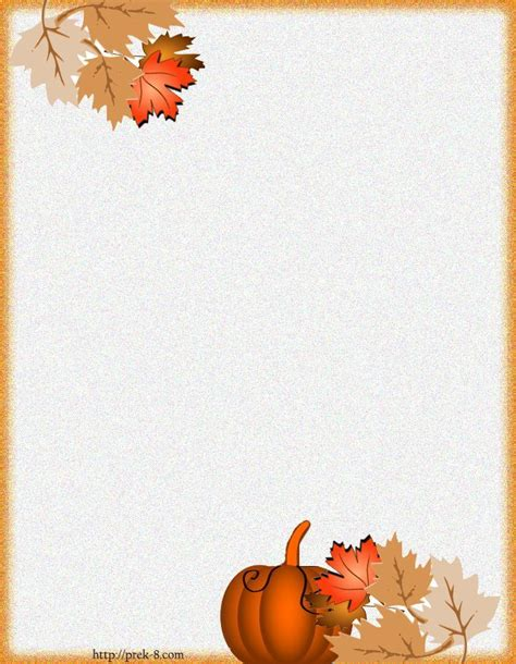 printable fall stationery borders writing paper