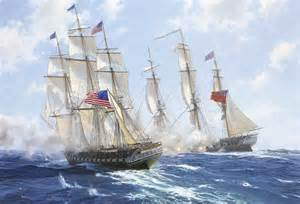 USS Constitution Ship Paintings