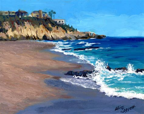 1000 steps in laguna california painting by leggett