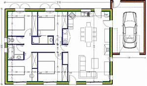 plan maison plein pied 100m2 rectangle 102 messages page 4 With plan maison 100m2 plein pied 3 chambres